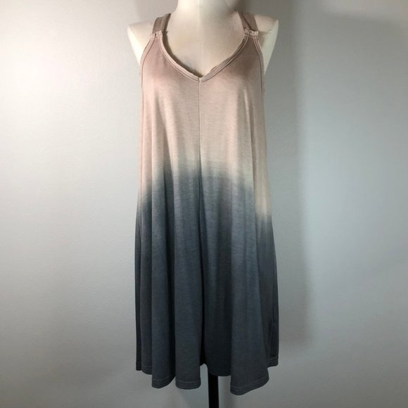 Umgee Dip Dye X-Back Sleeveless Mini Dress NWT